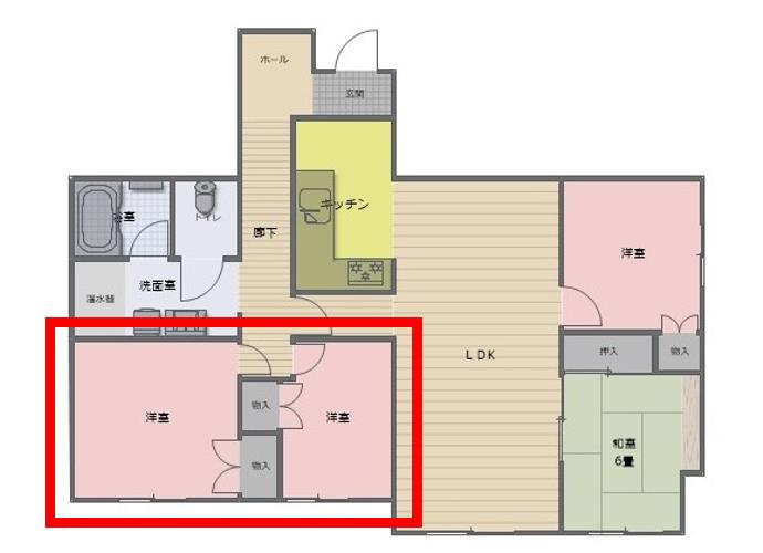 江戸川区K様邸の施工事例④書斎・ウォークインクローゼット編
